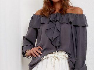 bluzki z falbanami