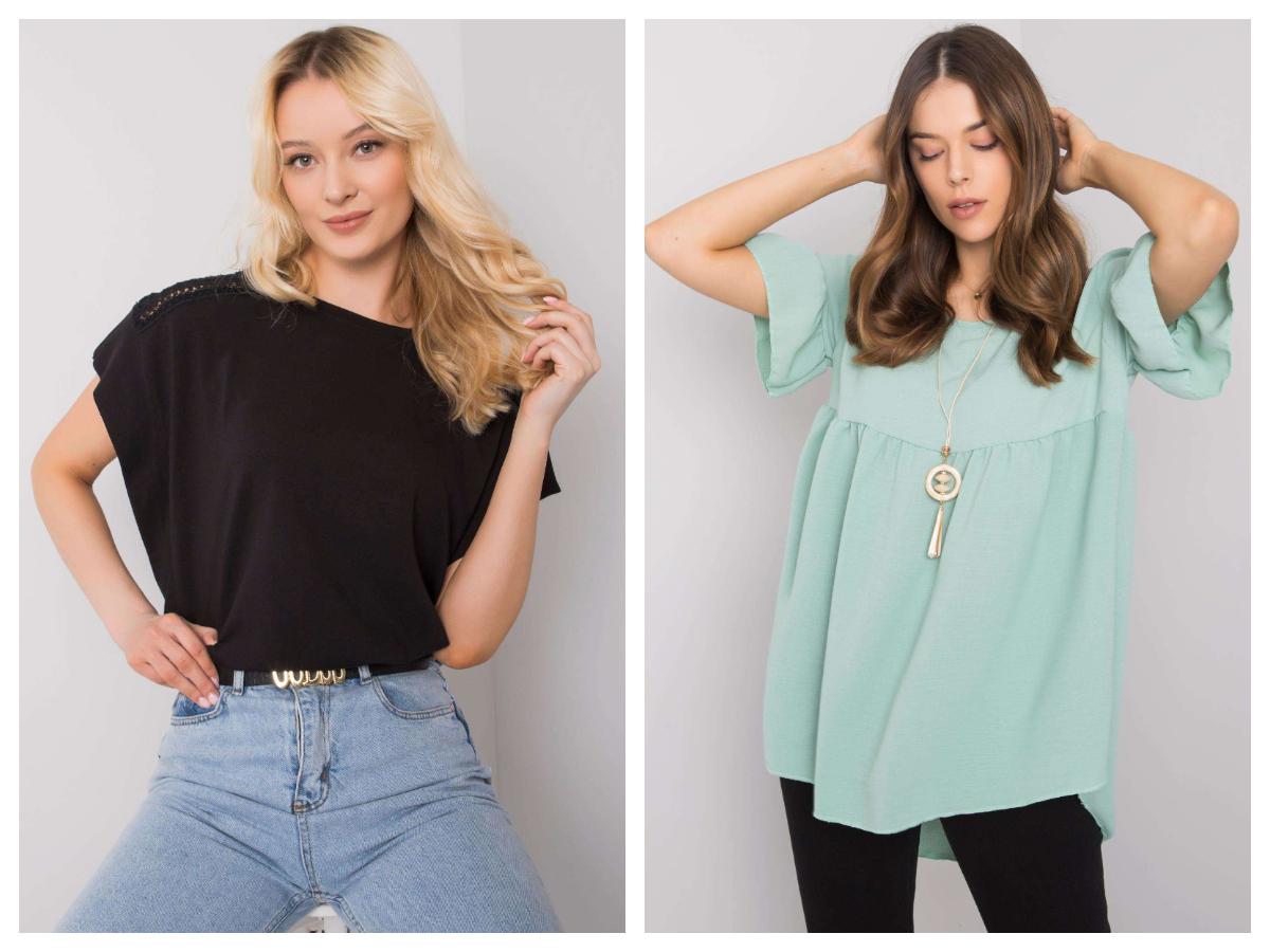 Bluzki oversize różne kolory